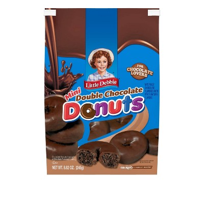 Little Debbie Bagged Double Chocolate Donuts - 8.25oz