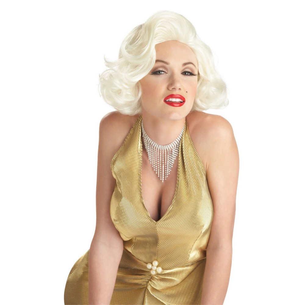 Halloween Classic Marilyn Monroe Costume Wig White, Women's