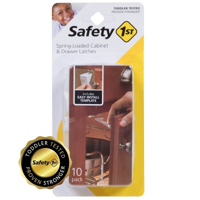 Safety 1st Spring-Loaded Cabinet & Drawer Latches - 10pk