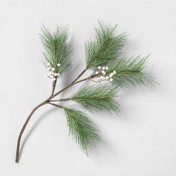 Faux Pine Stem with White Berries - Hearth & Hand™ with Magnolia