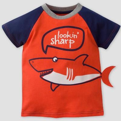 Gerber Baby Boys' 'Looking Sharp' Short Sleeve T-Shirt - Orange 12M