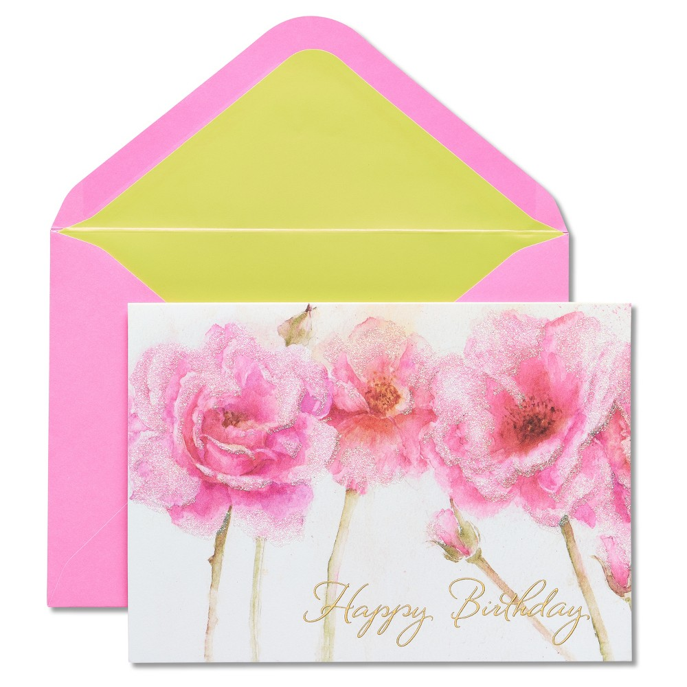Papyrus Pink Roses Birthday Card, Multi-Colored