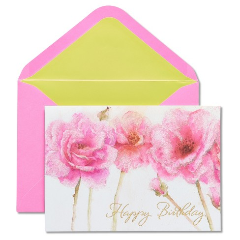 Papyrus Pink Roses Birthday Card Target