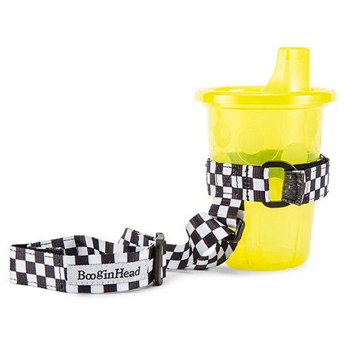 SippiGrip Sippy Cup strap – Black/White Skater - image 1 of 3