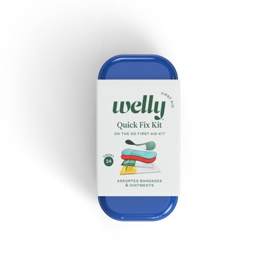 Welly Quick Fix Kit First Aid Travel Kit - 24ct