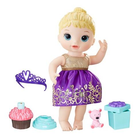 Baby Alive Cupcake Birthday Baby Doll Blonde Hair Target