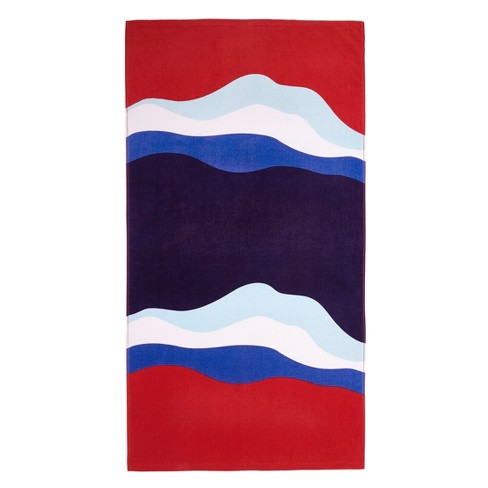 Beach Towel Summer Red/Blue - image 1 of 1