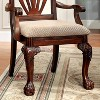 Set of 2 RaysburgShell Carved Back w/Padded Seat Arm Chair Cherry - Sun & Pine - image 3 of 4