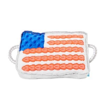 BARK America Flag Cake Dog Toy - Dog Bless America Cake