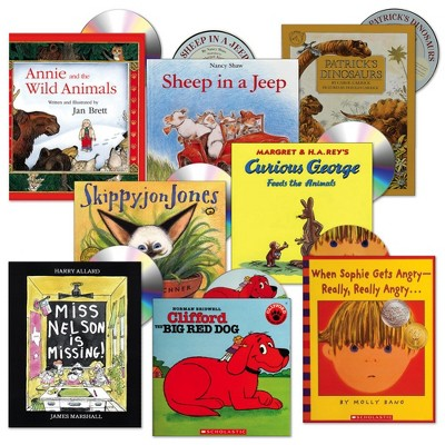 Kaplan Early Learning Listen Along Book and CD Set - Set of 8