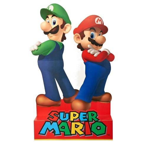 Super Mario Party Mario Luigi Stand Up Target