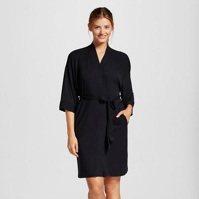 Women's Pajama Total Comfort Kimono Wrap Robe - Gilligan & O'Malley™ - Black XS/S