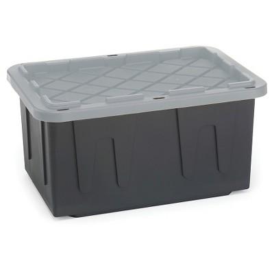 Homz® EcoStorage 27 Gal Tough Tote, Black/Grey