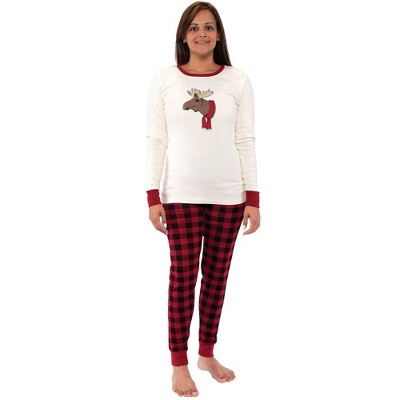 Touched by Nature Womens Unisex Holiday Pajamas, Moose