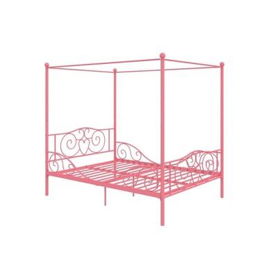 Full Clara Metal Bed Pink - Room & Joy