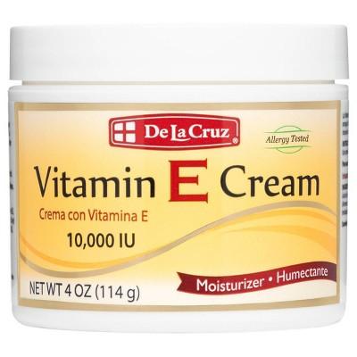 De La Cruz Moisturizer Vitamin E Cream - 4oz