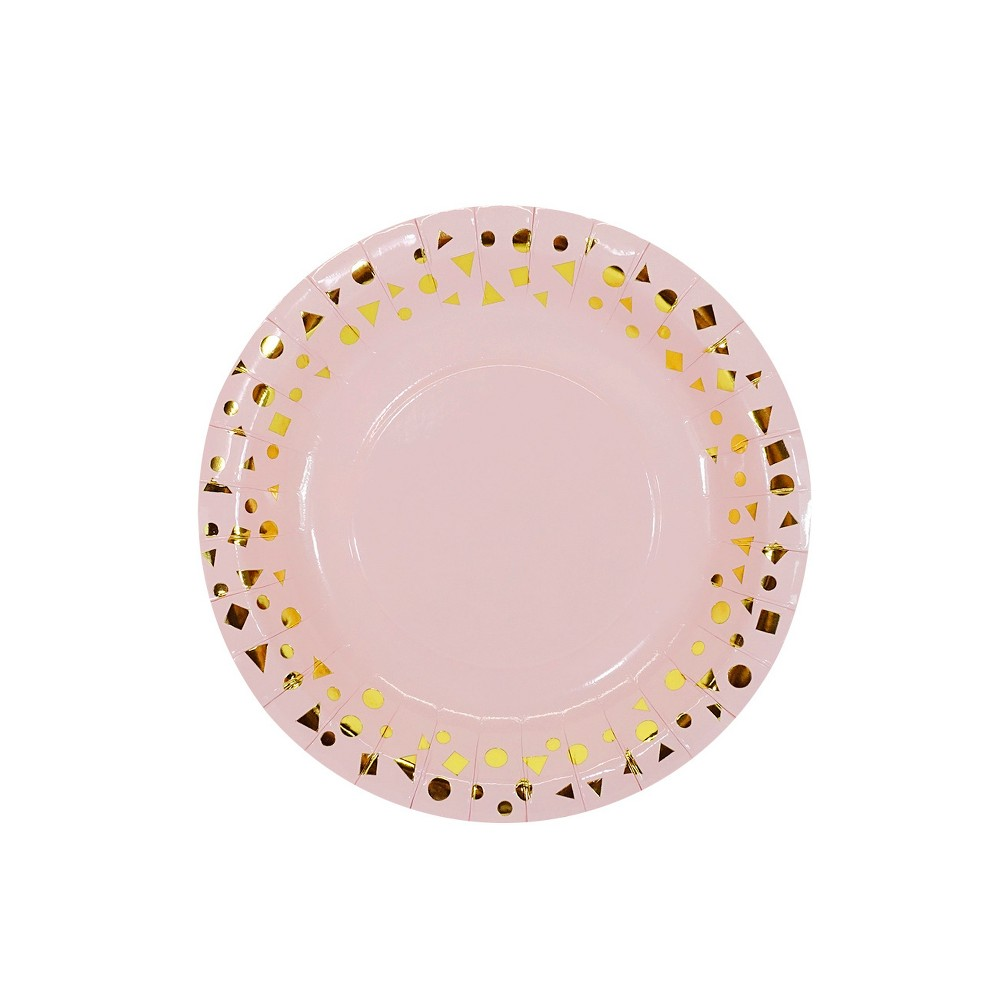 Image of 10ct Pink Snack Plates - Spritz, Black