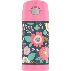 Thermos CRCKT 12oz FUNtainer Water Bottle - Gray Floral