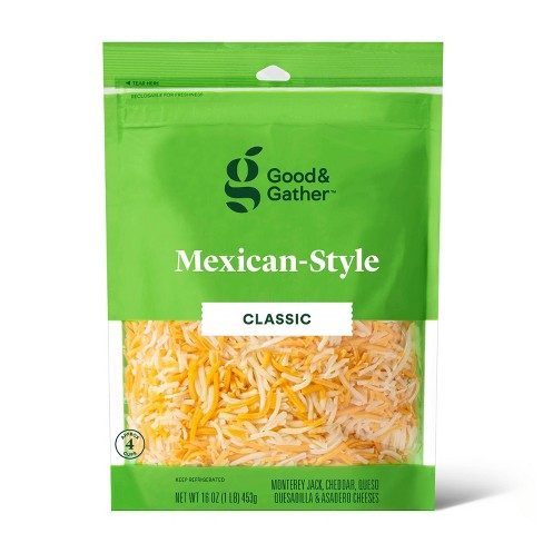 Shredded Mexican-Style Cheese - 16oz - Good & Gather™ - image 1 of 2