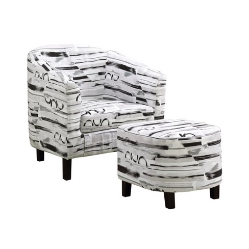 Accent Chair With Ottoman Gray/ Black - EveryRoom - image 1 of 2