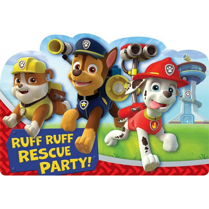 PAW Patrol 8ct Party Favor Invitations - image 1 of 1