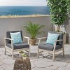 Perla 2pk Acacia Wood Club Chairs Light Gray/Dark Gray - Christopher Knight Home - image 2 of 4