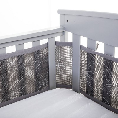 BreathableBaby Embroidered Collection Liner Links - Gray