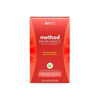 Method Nectarine Blossom Dryer Sheets - 80ct