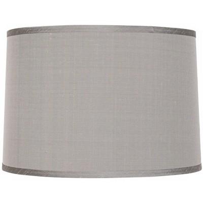 Brentwood Platinum Gray Dupioni Lamp Shade 15x16x11 (Spider)