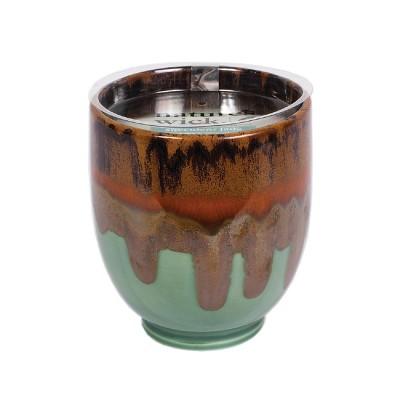 Ceramic Candle Succulent Jade 10oz - Nature's Wick