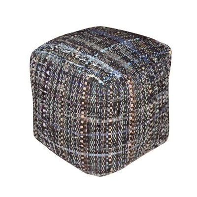 Harris Pouf Gray/Blue - Christopher Knight Home