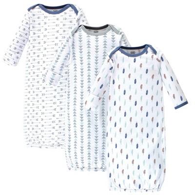 4-Pack Happy Camper Luvable Friends Boy Cotton Gowns 0-6 Months