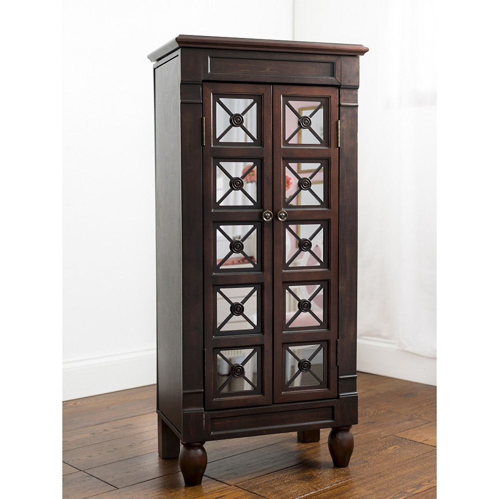 Hives & Honey Jewelry Armoire - Coffee (Brown)