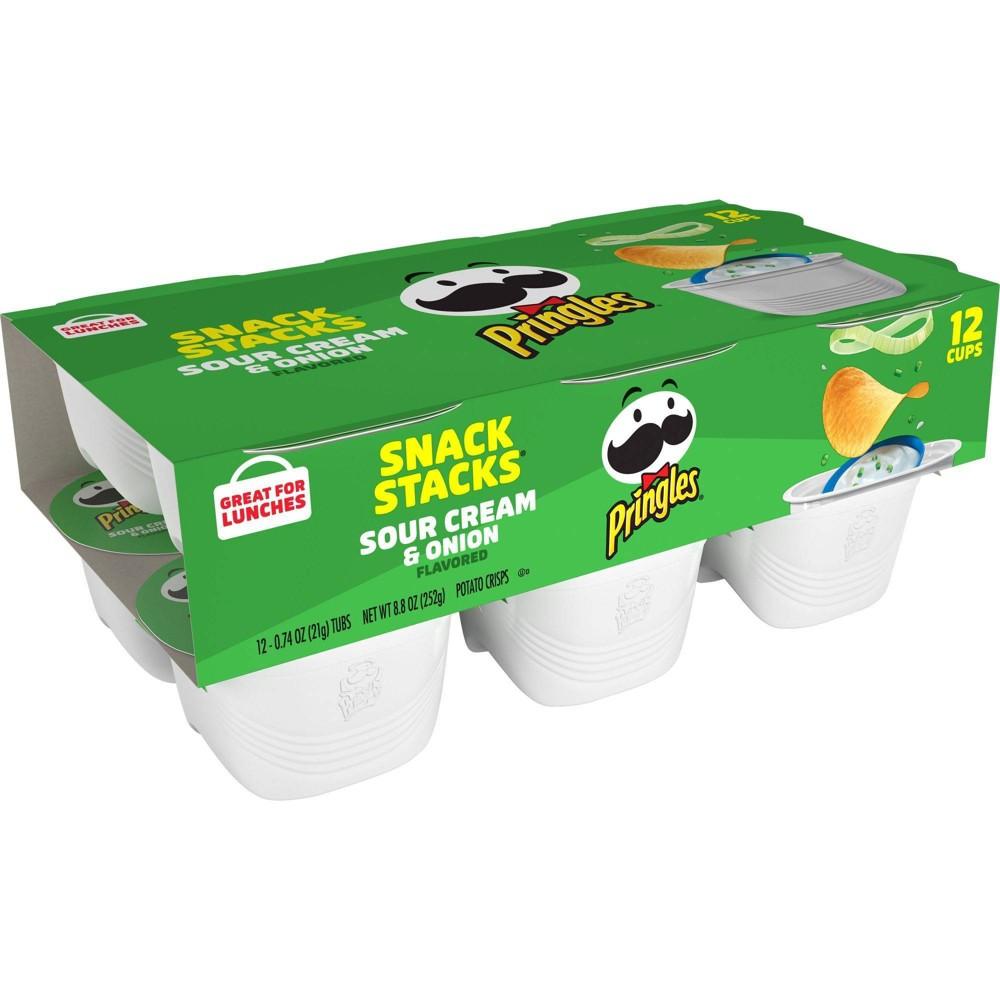 Pringles Snack Stacks Sour Cream 38 Onion Potato Crisps Chips 8 8oz 12ct