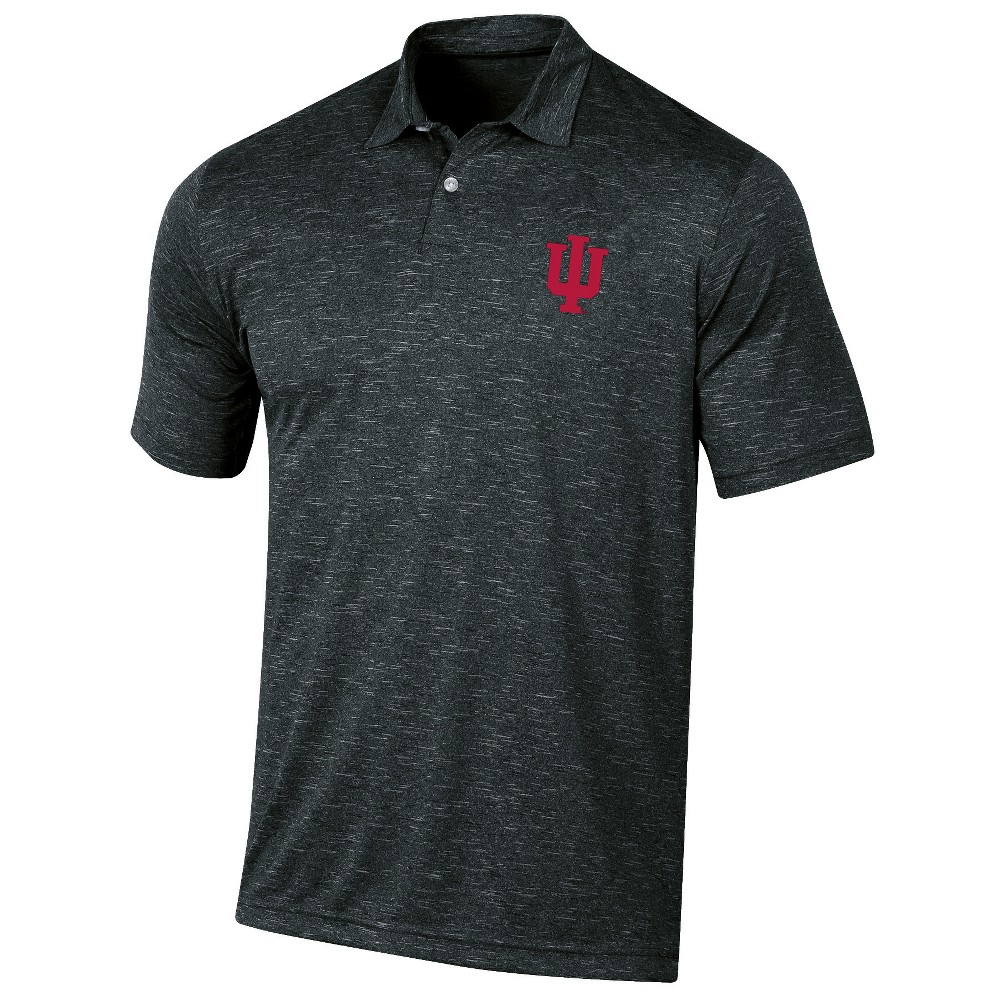 Indiana Hoosiers Men's Short Sleeve Twisted Jersey Polo Shirt - M, Multicolored