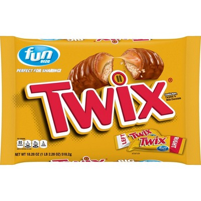 Twix Halloween Caramel Cookie Candy Fun Size - 18.28oz