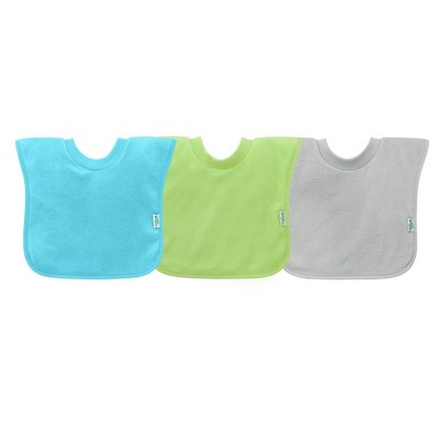 green sprouts 3pk Stay-Dry Pull-over Toddler Bib - Aqua Set