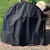 """40"""" Firewood Log Hoop Cover - Black - Sunnydaze Decor - image 4 of 4"""
