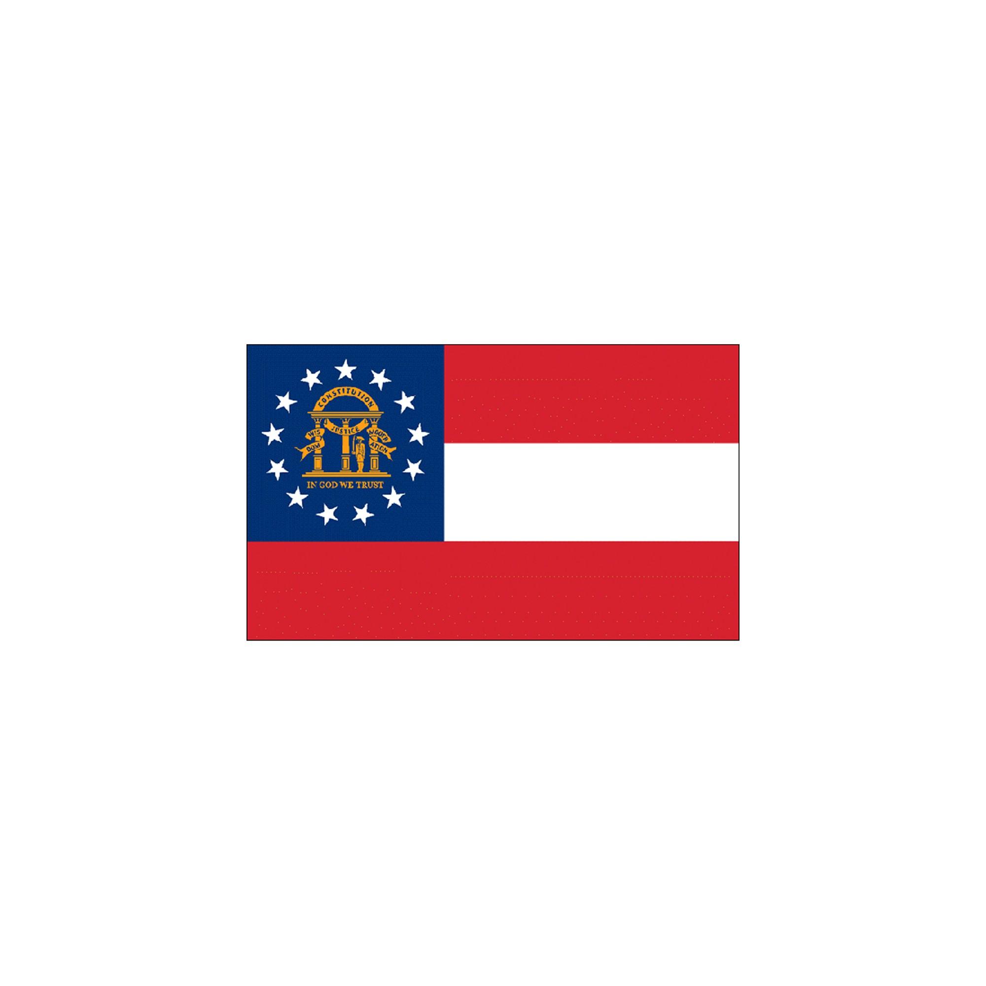 Halloween Georgia State Flag - 4' x 6'