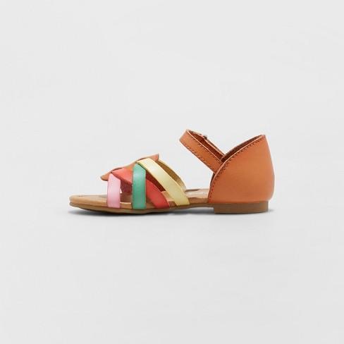 2fb1af34625bc Toddler Girls' Leonore Huarache Sandals - Cat & Jack™ Tan : Target