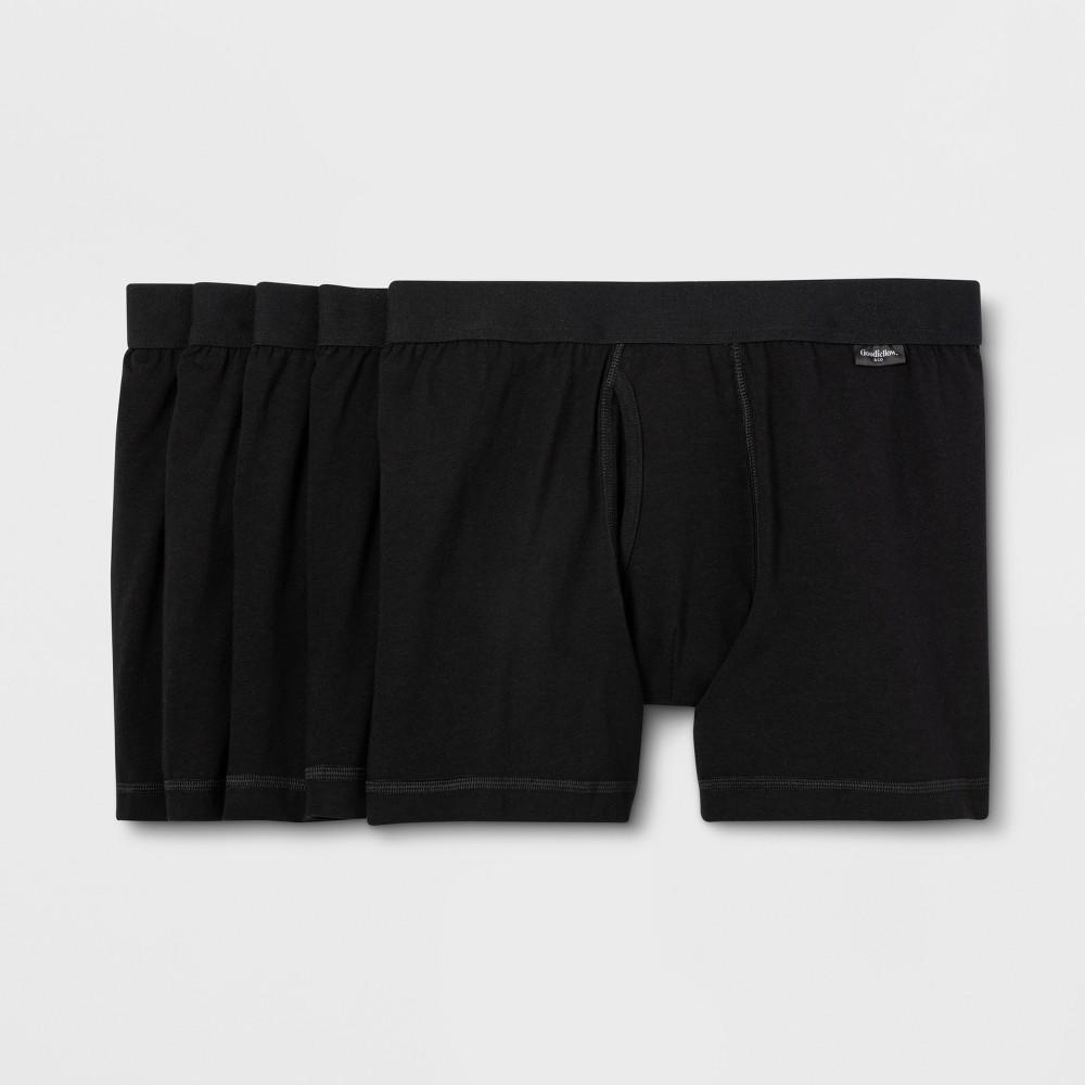 Men's 5pk Boxer Briefs - Goodfellow & Co Black L