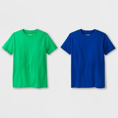Boys' 2pk Short Sleeve T-Shirt - Cat & Jack™ Green/Blue