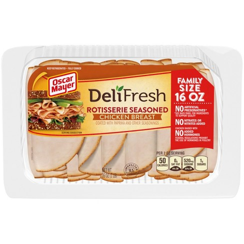 Oscar Mayer Deli Fresh Sliced Rotisserie Seasoned Chicken Breast - 16oz - image 1 of 3