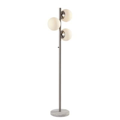 "61"" Sabrina Floor Lamp (Includes LED Light Bulb) Steel - Adesso"