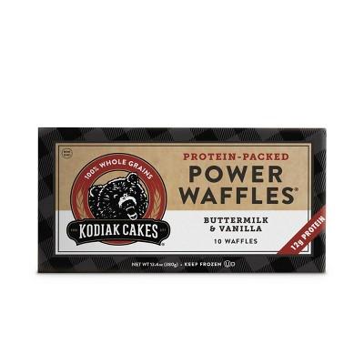 Kodiak Cakes Frozen Power Waffles Buttermilk & Vanilla -13.4oz/10ct