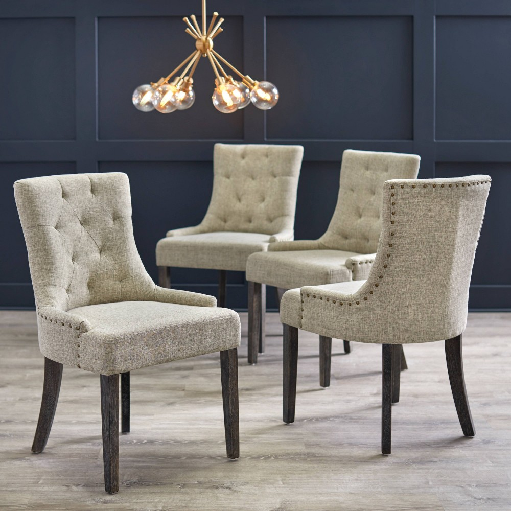 Image of Set of 4 Ariana Parson Dining Chair Gray - angelo : Home