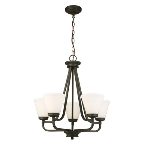 Mayview 5 Light Chandelier Bronze/White - EGLO - image 1 of 1
