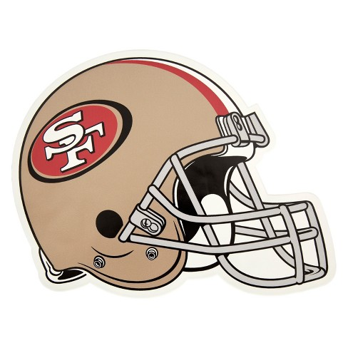 41e3c3ba142 NFL San Francisco 49ers Small Outdoor Helmet Decal : Target