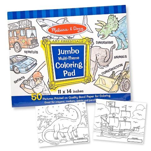 Melissa Doug Jumbo Coloring Pad Assortment Target