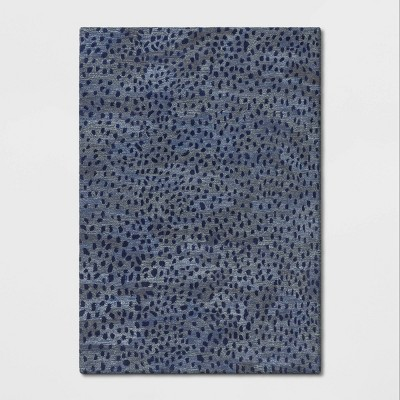 7'X10' Sibia Ombre Leopard Print Tufted Rug Blue - Opalhouse™